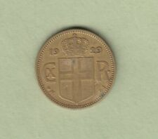 1929 Iceland One Krona Coin - VF