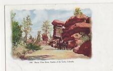 USA, Buena Vista Drive Garden of The Gods Colorado Early Embossed Postcard, B419