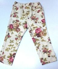 Joe Fresh Baby Girl Floral Elastic Snap Jeans~Sz 18-24 Months