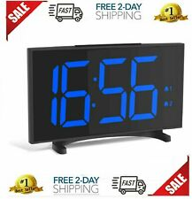 YISSVIC Digital Alarm Clocks for Bedrooms 6.5 Inches LED Clock with Separate Sno
