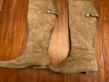 Coach taupe suede comfy chic tall boots- sz 9