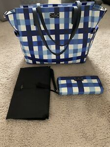 Kate Spade Kaylie Diaper xLarge Bag Hand Purse And Changing Matt Great Condition