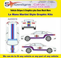 Audi A5 Coupe 2007-14 Le Mans Martini Race Rally Logo Graphics Kit 16