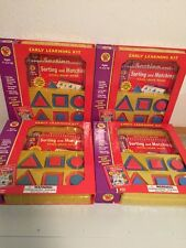 NEW Lot 4 Brighter Child Sorting and Matching Early Learning Kit Preschool NIP