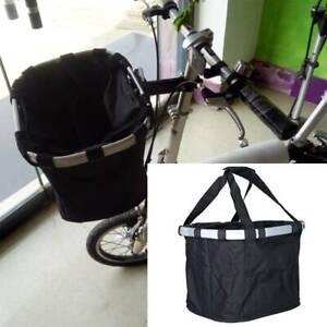 Foldable Front Basket for Aluminum Alloy Bike Bicycle Handlebar Shopping Bag UK