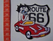 E18- Ecusson thermocollant BETTY BOOP Route 66