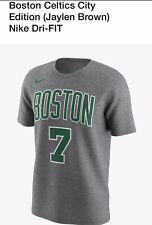 NEW Mens Nike Boston Celtics Jaylen Brown City Edition Basketball Shirt XL