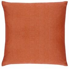 "Orange Terracotta MATRIX Textured Modern Unfilled Cushion Cover 17"" x 17"""