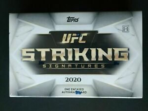 2020 TOPPS UFC Striking Signature Trading Cards Box