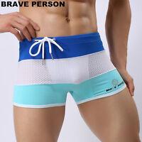 new Men Swimming Trunks Boxer Shorts summer swimwear Surf Board Beach Wear M-XL
