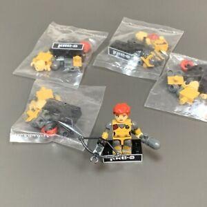 5X Kre-O Gi Joe G.i. Scarlett Mini Action Figure Kreon Kreo Brick Series Wave 1