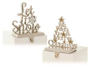 Premier Decorations 22cm Silver Christmas Stocking Holder (One Sent)
