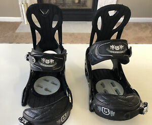Burton Custom Snowboard Bindings Large Black Missing A Strap