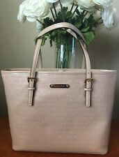 NWT Michael Kors Jet Set Travel Tote MK Logo Oyster Sm Carryall Tote MSRP $228