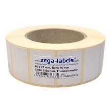 Thermotransfer Etiketten Rolle ROT 57 x 32 mm 2.000 Stück Kern 76 mm Leuchtrot