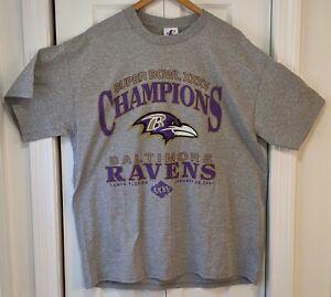Baltimore Ravens Super Bowl XXXV Champions 2001 T-Shirt Size XL