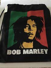 Bob Marley Rasta face Drawstring Backpack Black New w/Tags
