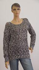 C&A Pullover Langarm grau schwarz Strick Damen Größe M (1704B-BR-OH3#)