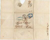 881 - Regno - 20 cent (non dentellato) su busta da Codogno a Roma (via Firenze)