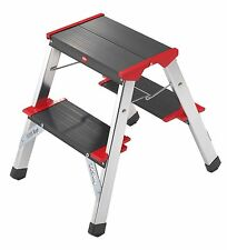 Hailo 4422-001 - taburete / mini escalera aluminio (2x2 Peldaã±os)