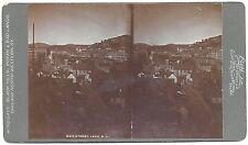 William Cross Stereoview of Main Street in Lead South Dakota c1890s