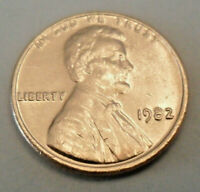 1982 P Lincoln Memorial Cent / Penny   *LARGE DATE ZINC*   **FREE SHIPPING**