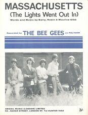 Massachusetts - The Bee Gees - 1967 Sheet Music