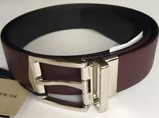 BURBERRY SHOES & ACCESSORIES 4CM REVERSIBLE TEXTURED-LEATHER BELT 95 W32 RRP£315