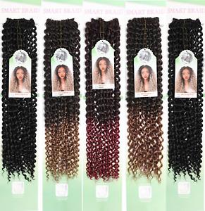 """Water wave Crotchet Bulk curly hair 22"""" (20 strands) Pre-Loop (by Smart Braid)"""