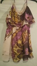 Cooper St Ladies Top in Lilac Gold  Beige and Brown Floral Pattern Size 12