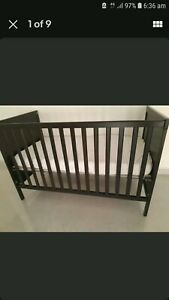 Baby cot, changing table and baby swing with bounce