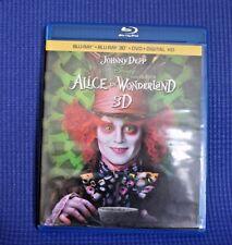 Alice In Wonderland  3 Disc Combo (Blu-ray 3D / Blu-ray / DVD )  No Digital Copy