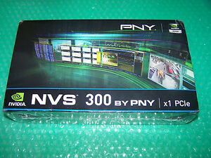 New Nvidia NVS 300 512MB PCI-E x1 Dual Monitor card + Cables