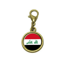 Flag of Iraq Cute Bracelet Pendant Charm