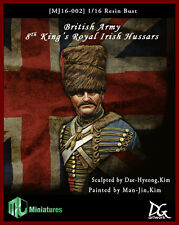 MJ Miniatures British 8th King's Royal Irish Hussars 1/16th Bust Unpainted kit