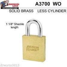 "American Lock 3700 Padlock 2"" Multi-cylinder Less Cyl. - Series 3000 MPN 3700"