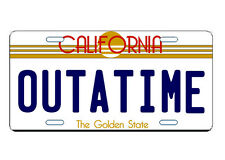 LICENSE PLATE BACK TO THE FUTURE OUTTATIME CUSTOM CAR TAG NOVELTY