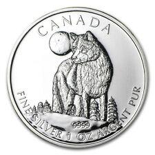 2011 Canada 1 oz Silver Wildlife Series Wolf - SKU #59085