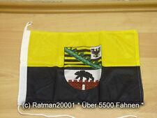 Fahnen Flagge Sachsen Anhalt Bootsfahne Tischwimpel - 30 x 45 cm