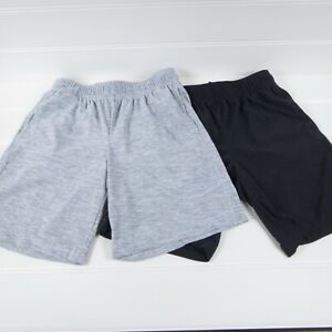 OLD NAVY ACTIVE BOYS LIGHTWEIGHT SHORTS - GRAY & NAVY BLUE - SIZE M 8 - LOT OF 2