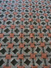 "New listing Stunning Vtg Pink & White Crochet Tablecloth Tastefully Done! 102' X 80"""