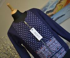 ROXY Womens Jumper Top Reversible Full Zip Purple pattern Designs Sz. Large