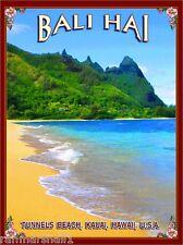 Bali Hai Tunnels Beach Hawaii Kauai United States Travel Advertisement Poster