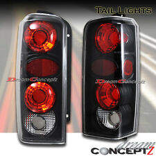 1997 1998 1999 2000 2001 Jeep Cherokee tail lights lamps JDM Black w Clear lens