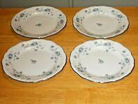 "Blue Garland 6¼"" Bread & Butter Plates lot of 4 Johann Haviland Bavaria Germany"