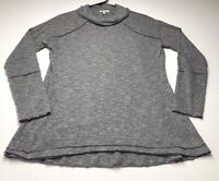 Kori America Women Cowl Neck Top Sweater Small S Gray Long Sleeve Casual Stretch