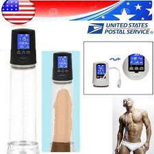 USA Digital Electric Beginner MEN Penis Pump Enlarger Sleeve Erection Enhancer A