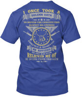 Us Veteran Over 1600 Sold - I Once Took A Solemn Oath Hanes Tagless Tee T-Shirt