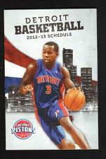 2012-13 Detroit Pistons Schedule--Fox Sports Detroit--Rodney Stuckey/Greg Monroe