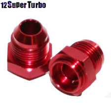 2Pcs -8AN Male to Weld-On Bung 0 Degree Hose End Fitting Adapter Flare Red